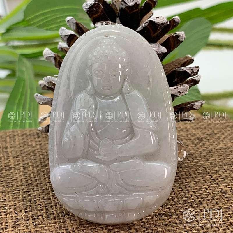 Mặt Phật Bản Mệnh A Di Đà ngọc phỉ thúy PDJ