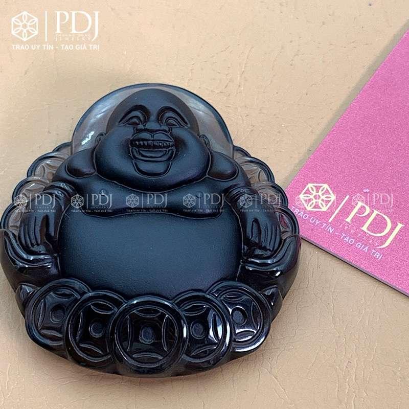 Mặt Phật Di Lặc Đá Thạch Anh Khói PDJ