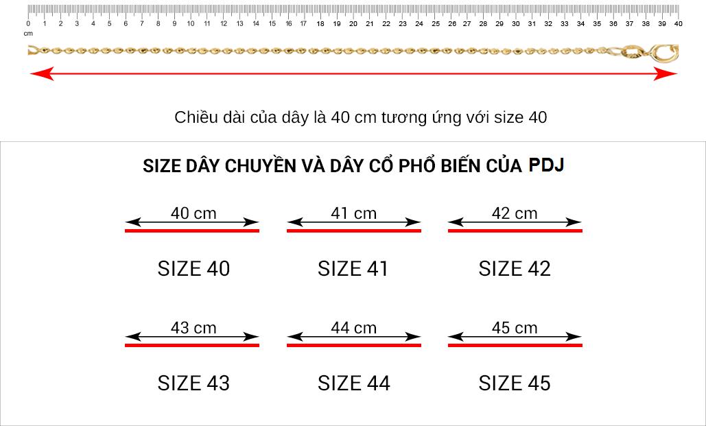 Hướng dẫn đo size dây chuyền và dây cổ