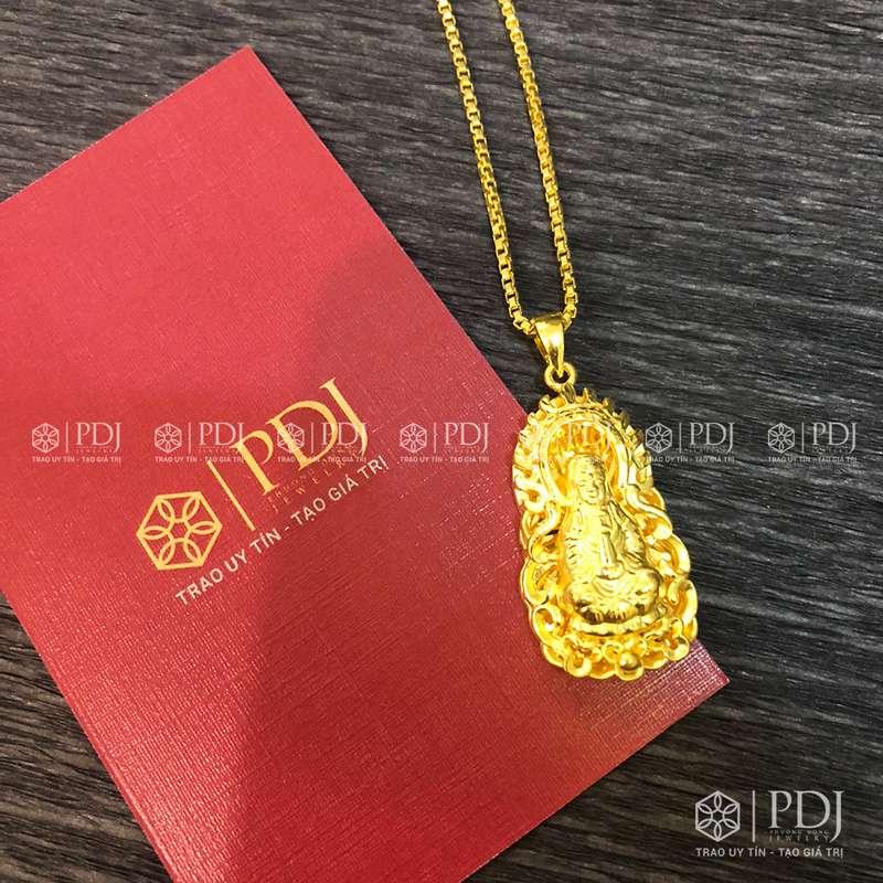 Mặt Phật Quan Thế Âm Bồ Tát Vàng 24K