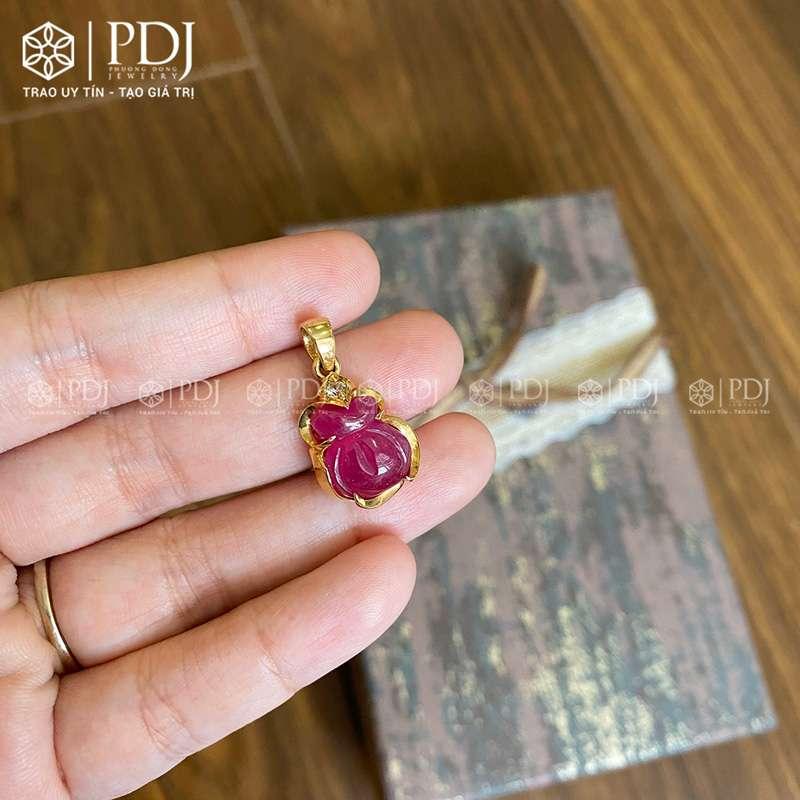 Mặt Túi Tài Lộc Ruby 10K M01 PDJ